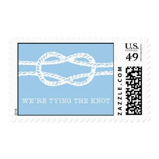Atando el nudo - azul de Ceci Nueva York Timbres Postales