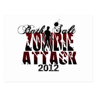 Ataque 2012 del zombi de la sal de baño tarjeta postal