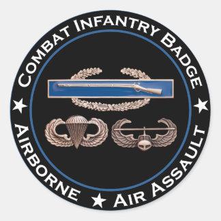 Ataque aéreo aerotransportado del CIB Pegatina Redonda