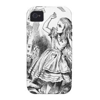 Ataque Alicia de las tarjetas en regalo del país Case-Mate iPhone 4 Carcasas