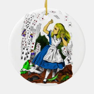 Ataque colorido de las tarjetas Alicia en el país Ornamentos De Reyes