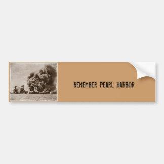 Ataque contra Pearl Harbor Etiqueta De Parachoque