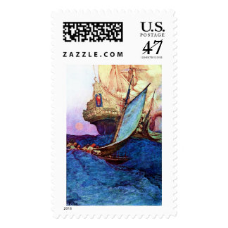 Ataque contra un ~ de Galleon (piratas) Sellos Postales