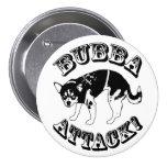 ¡Ataque de Bubba! Botón Pin