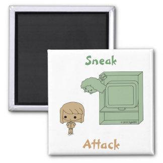 Ataque de chivato (Brown y chica verde) Imán Cuadrado