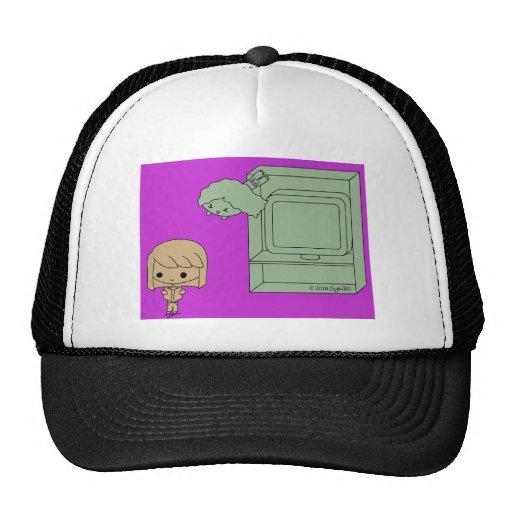 Ataque de chivato (Brown y chica verde, púrpuras) Gorras De Camionero