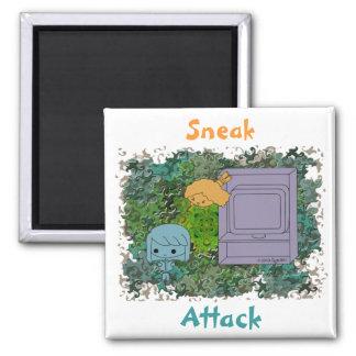 Ataque de chivato (chica azul y anaranjado, rompec imán cuadrado