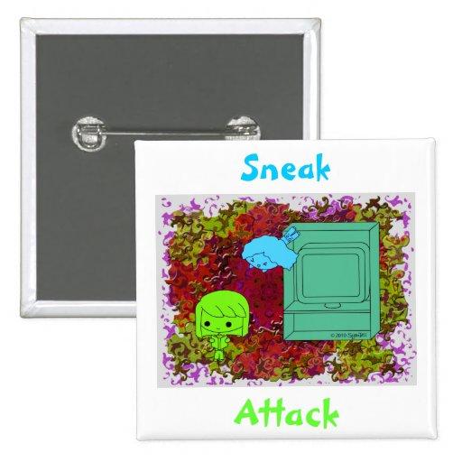 Ataque de chivato (chica verde y azul, rompecabeza pins