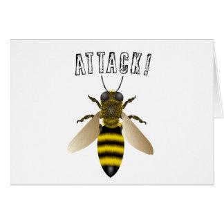 Ataque de la abeja tarjetas