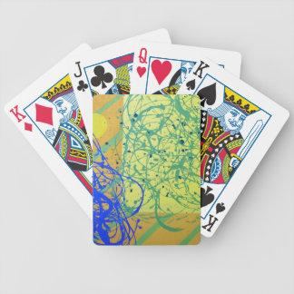 Ataque de la caída barajas de cartas