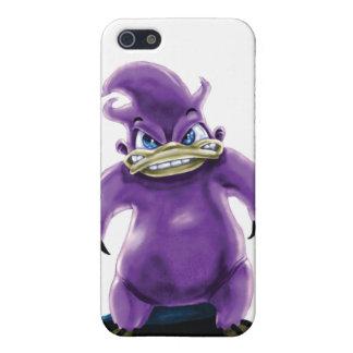 Ataque de la caja púrpura del iPhone 4 de Platypus iPhone 5 Protectores