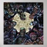Ataque de la horda del zombi