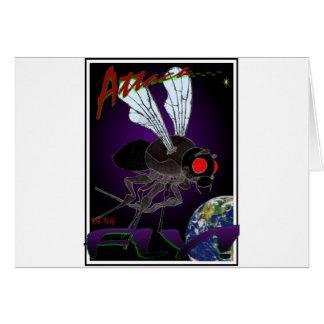 Ataque de la mosca tarjeta de felicitación
