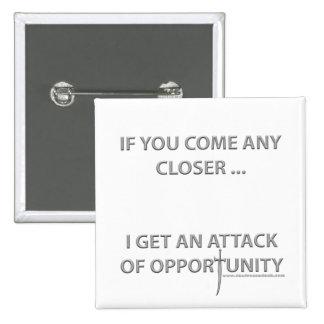 Ataque de la oportunidad pin cuadrado