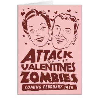 Ataque de los zombis de las tarjetas del día de