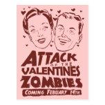 Ataque de los zombis de las tarjetas del día de postal
