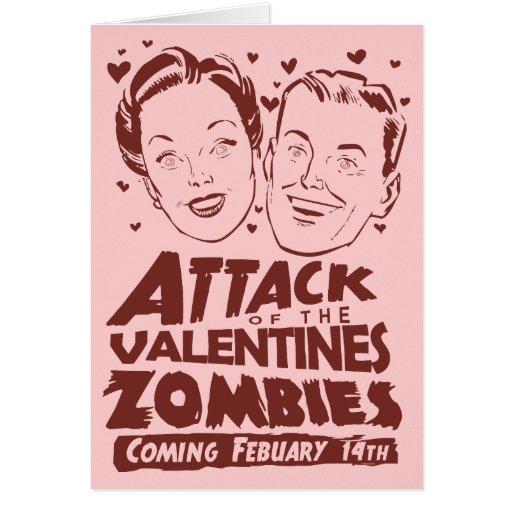 Ataque de los zombis de las tarjetas del día de Sa