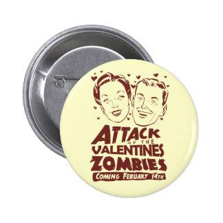 Ataque de los zombis de las tarjetas del día de Sa Pins