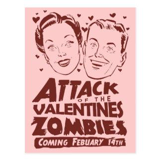Ataque de los zombis de las tarjetas del día de Sa Postal