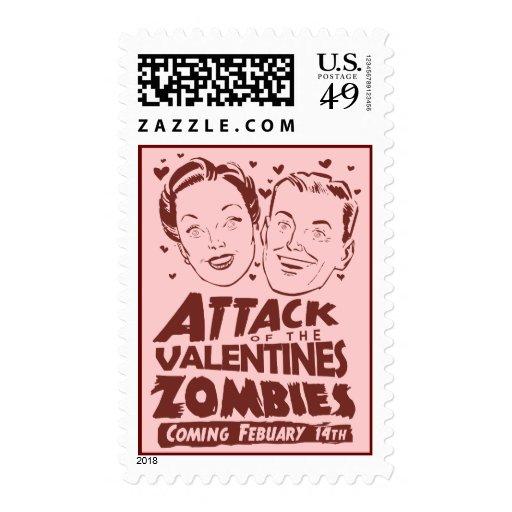 Ataque de los zombis de las tarjetas del día de sello