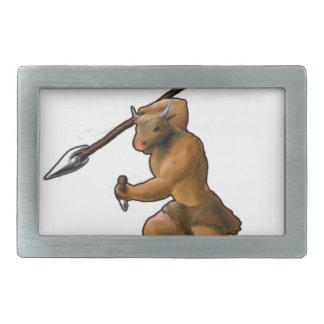 ¡Ataque de Minotaur! (ningún lema) Hebillas Cinturon Rectangulares