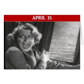 Ataque de pánico del día del impuesto tarjeta de felicitación