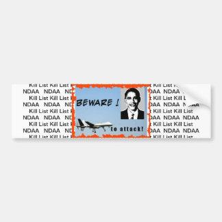 Ataque del abejón de Obama de la pegatina para el  Etiqueta De Parachoque