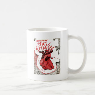 Ataque del arte taza de café