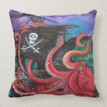Ataque del barco pirata almohadas