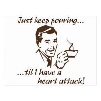 Ataque del corazón de colada Keep… Postal