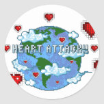 ¡Ataque del corazón!!! Etiqueta Redonda