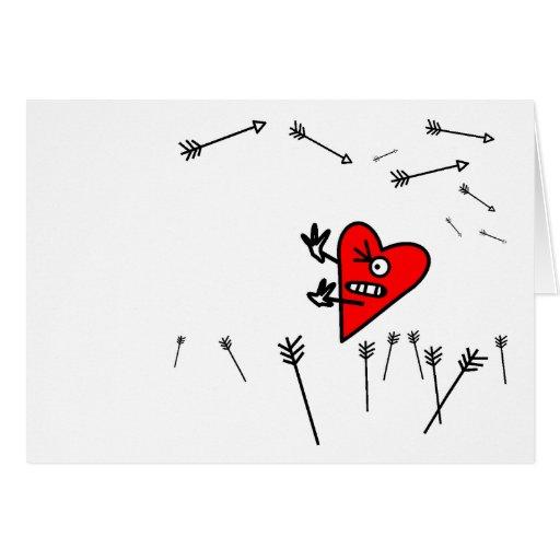 Ataque del corazón tarjeta