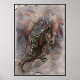 Ataque del dragón póster