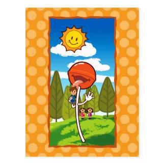Ataque del lollipop tarjeta postal