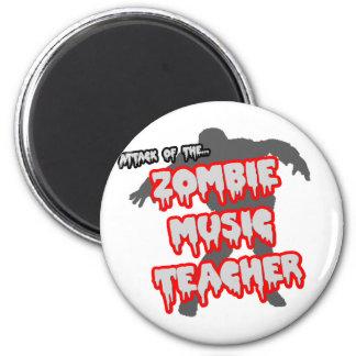 Ataque del profesor de música del zombi imán redondo 5 cm