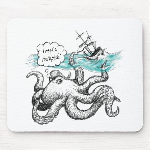 Ataque del pulpo mouse pad