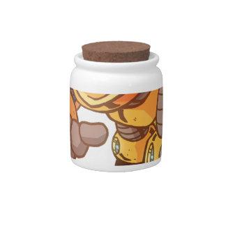 Ataque del robot jarra para caramelo