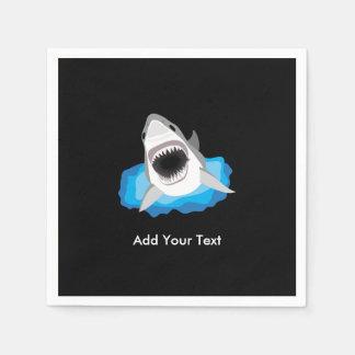 Ataque del tiburón - añada su propio subtítulo servilleta de papel