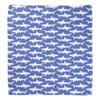 Ataque del tiburón - azul y blanco bandana