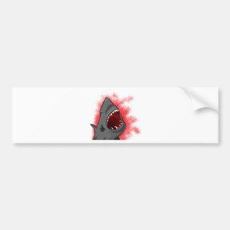 Ataque del tiburón pegatina de parachoque