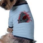 Ataque del tiburón camisa de mascota