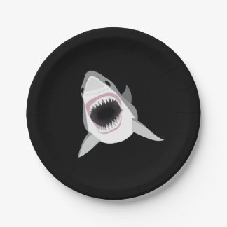 Ataque del tiburón - el gran tiburón blanco platos de papel