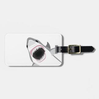 Ataque del tiburón etiqueta para maleta