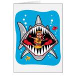 ¡Ataque del tiburón! Felicitaciones