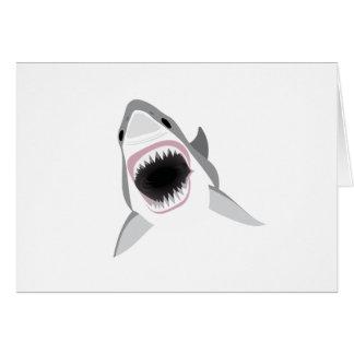 Ataque del tiburón - mordedura del gran tiburón tarjeta de felicitación