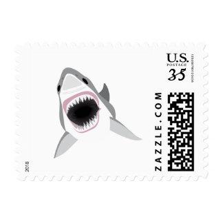 Ataque del tiburón - mordedura del gran tiburón timbre postal