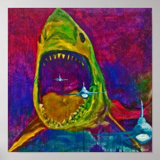 ataque del tiburón impresiones