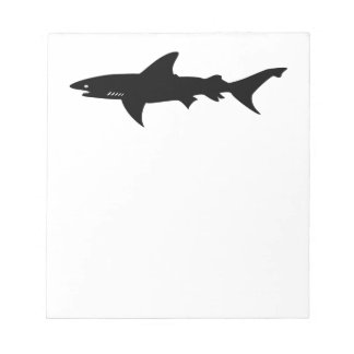 Ataque del tiburón - salto con negro elegante de l libretas para notas