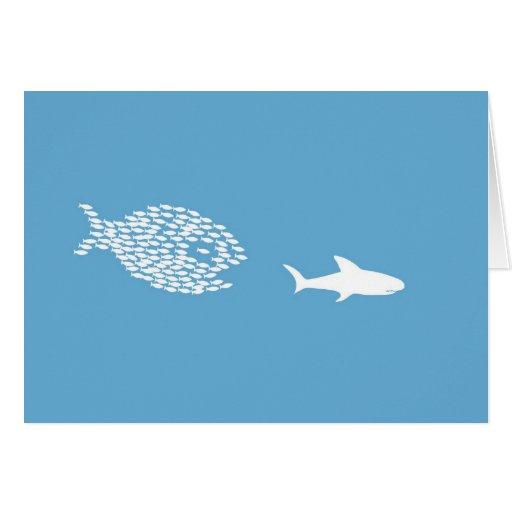 Ataque del tiburón tarjetón