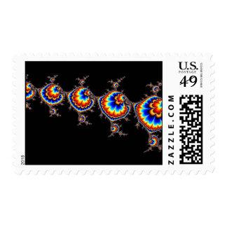 Ataque del UFO - arte del fractal Sello